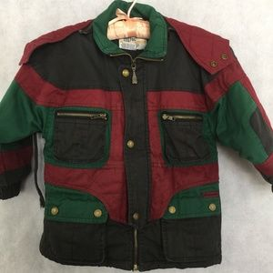 London Fog Kids Boys Jacket Coat Sz 4 Snap Zip